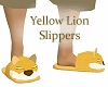 Yellow Lion Slippers