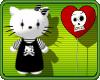 Emo Hello Kitty F and Heart Balloon
