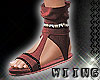 [W] Red Sandals