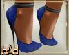 Blue Sparkle Spike Heels