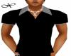 B/W Striped Collar Top