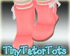 Kids Pink N Khaki Boots