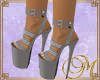 M Sensual  Silver Heels