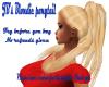 JB's Blondie ponytail