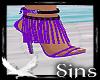 Violet Tassle Heels