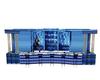 Blue glitter bar