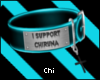 [Chi]Support Collar Blue