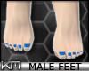 +KM+ Male Feet Blue