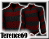69 Sweater Stripe-BlkRed