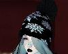 winter hat blue hair