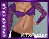 {KT} Purple Lace Crop