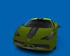 green Exotic Italian Car