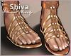 ❤ Summer Gold Sandals