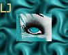 Teal/Silver Tiger Eyes M