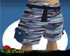 Blue Camo Cargo Shorts