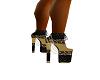 blk&gold chain heels