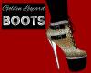 Golden Leopard Boots