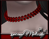 Deep Red Pearl Choker