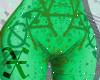 Green Graffiti Pants