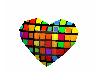 Rainbow Discoball Hearts