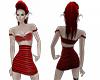 mini spiked dress red