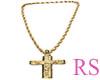 Crucifixo Brilhante Ouro