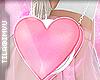 x heart purse . glitter