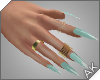 ~AK~ Nails: Gold/Mint