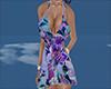 sexy purple flower dress