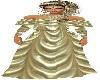 golden long dress