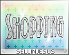 $J Shopping Bling Sign