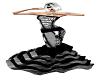 W/B Fishtail Ruffle Gown