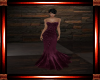 Burgundy Beaded Gown