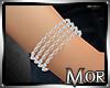 *M* Silver Bracelet Pair