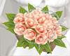 *D* Peach wedding bouque