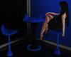 Blue Club Table {F}