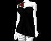 Rose tat black dress