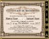 Certificado boda MyS