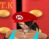 T.K Black Hat Hair