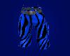 Blue Zebra Print Cargos