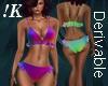 !K! Derive Ruffle Bikini