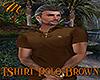 [M] T-Shirt Polo Brown