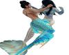 2 mermaids playing