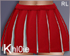 K cheer leader skirt red