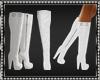 White Vinyl Calf Boots