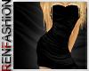 $R Black Silk Dress