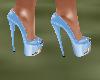 !Em Lt BlueGold Heels