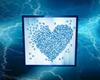 butterfly heart  blue