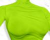 F. Neon Green Turtleneck
