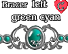 Bracer1 GreenCyan LEFT